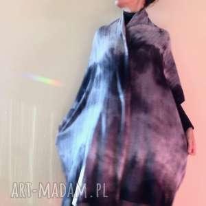 Miękki ciepły wełniany szal w odcieniach szarości szaliki anna