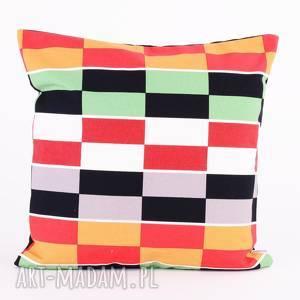 Poduszka w kolorowe prostokąty 40x40cm od majunto poduszki