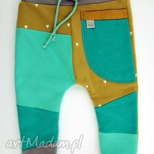 patch pants - eco dresik dziecięcy miód mięta, spodenki, niemowlęce, cirpłe, zima