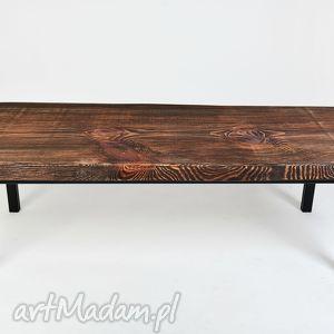 stolik ławka kobe - drewno, unikat, industrialny, minimalistyczny, designerski