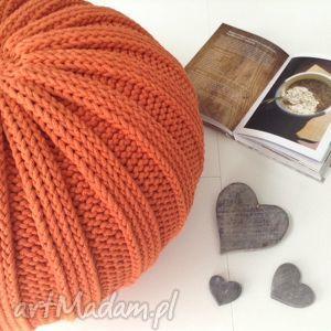 pufa hygge/pasy, 30x50cm, ściągany pokrowiec - pomarańczowa, pomaranczowy