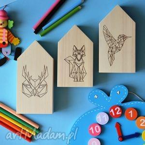 Domki drewniane w stylu skandynawskim, domki, domek, drewniany, dekoracje, zwierzęta