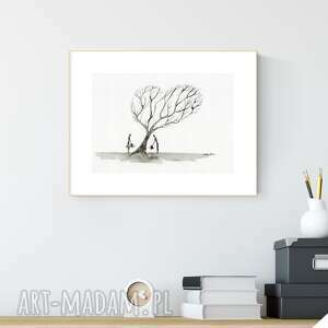 grafika a4 malowana ręcznie, minimalizm, grafiki do salonu, obrazy