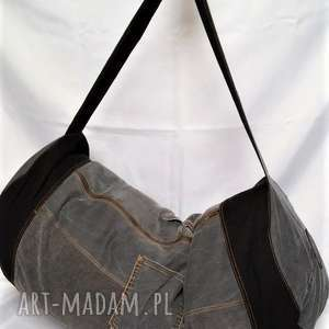 duża torba wycieczkowa, torba, worek, plecak, dżins, jeans, denim torebki