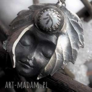 hand made wisiorki srebrny wisior - zimowy sen