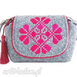 handmade na ramię torebka filcowa dla dziewczynki farfun f04