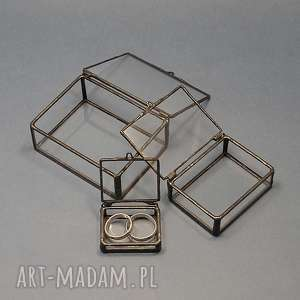 mini szkatułki, szkatułka, rękodzieło, ślub, tiffany, szkło, minimalizm, święta