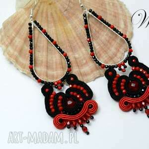 Kolczyki sutasz flamenco wdart sutasz, kolczyki, eleganckie