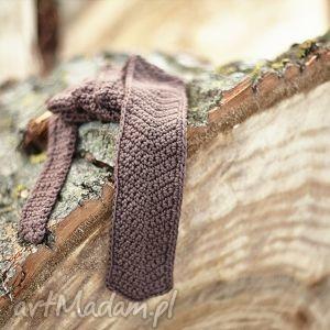 hand-made krawaty krawat na szydełku