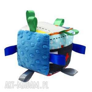 Kostka sensoryczna, wzór Pojazdy, kostka, sensorek, auto, auta, minky