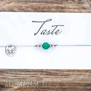 w hand works whw taste green agate, sznurkowa, sznureczkowa, delikatna, makrama, agat