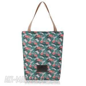 na ramię torebka shopperka 1094, torebka, flamingi, printy, shopperka, prezenty