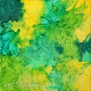 zieleń wiosenna abstrakcja, zieleń, wiosna, akstrakcja, prezent, zółty