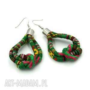 beezoo kolczyki boho chantico knot, etniczne, styl boho, wzorzyste