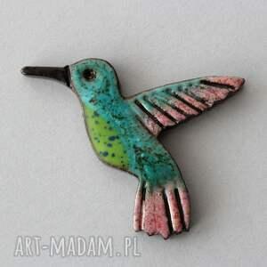 hand-made broszki koliber - broszka ceramiczna zamówienie. Magdy