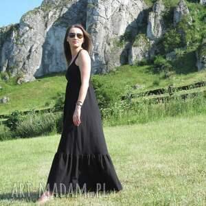 54dł-długa dzianinowa sukienka, dzianina, bawełna, długa, zwiewna