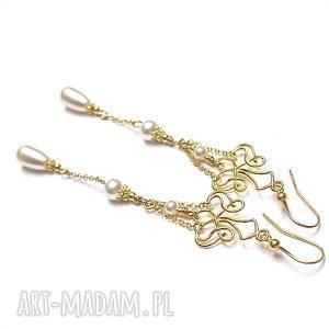 perłowe kandelabry - kolczyki