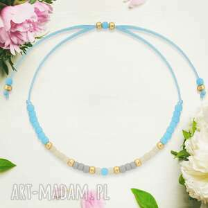bransoletka minimal - autumn blue złota, unikalna, bransoletka, delikatna