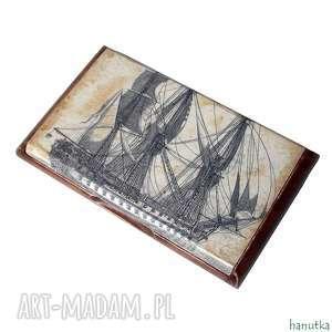 żeglarz - wizytownik etui na karty płatnicze hanutka - żaglowiec