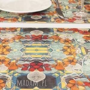 podkładki zestaw 4 podkładek na stół nasturcje, wyspiański, dom
