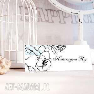 ślub winietki ślubne z autorską ilustracją - komplet 10 szt, winietki