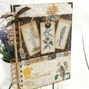 shiraja notatnik zielarski - zielnik, notes, planer, notatnik, zeszyt