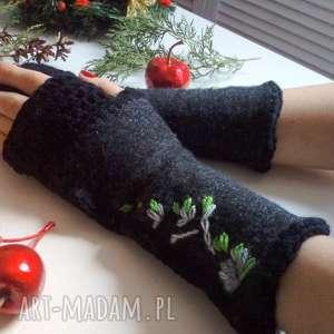rękawiczki mitenki, wełniane, na prezent, na dłonie