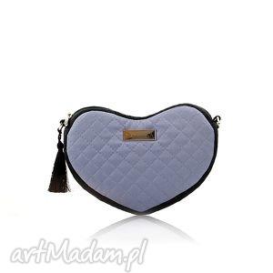 torebka lovka 117, pikowana, serce, elegancka,