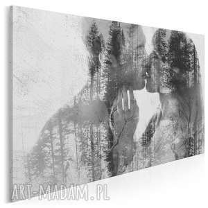 obraz na płótnie - pocałunek miłość 120x80 cm (43401)