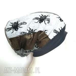 czapka turbanowa etno boho wiosenna patchwork - box 11- uwaga poezja gdy pająk