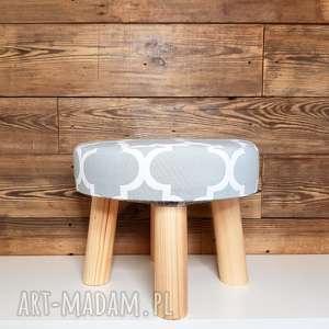 hand-made pufa szara koniczyna maroco - 23