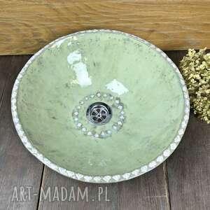 Ceramiczna zielona umywalka ceramika ceramystiq studio polskie