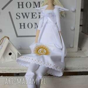 ręcznie zrobione lalki pamiątka komunii świętej anioł