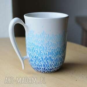 kubek ręcznie malowany ceramiczny błękit ombre, kubek, ceramika