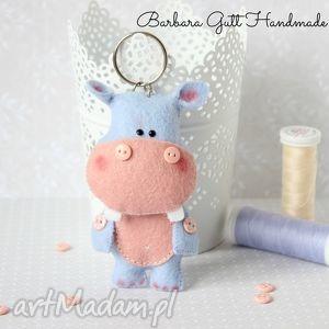 barbara hipcio breloczek, hipopotam, brelok, filc, prezent, hipcio