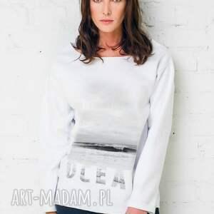 ocean oversize bluza, oversize, biała, casual, bawełna, moda