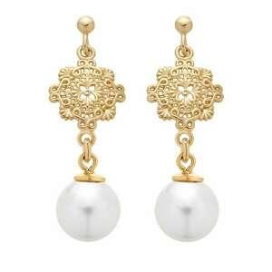 złote kolczyki z perłami swarovski® crystal sotho - złote