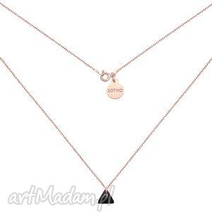 sotho naszyjnik z różowego złota z czarnym kryształowym
