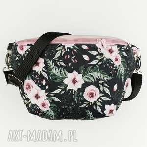 nerka xxl kwiatowa - ,nerka,romantyczna,kwiaty,kwiatowa,biodrówka,torebka,