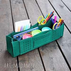 Organizer na biurko z przegrodami - zielony pokoik dziecka