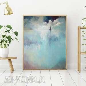 morze-obraz akrylowy formatu 50/60 cm, morze, obraz, akryl, lniane