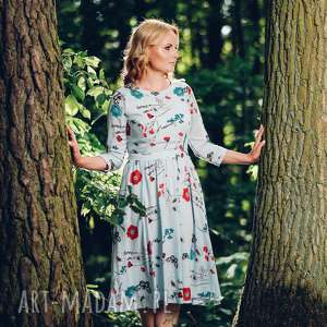 Sukienka midi z zwiewnej wiskozy rozmiar S, M, L - LIKWIDACJA WYPRZEDAŻ DO KOŃCA