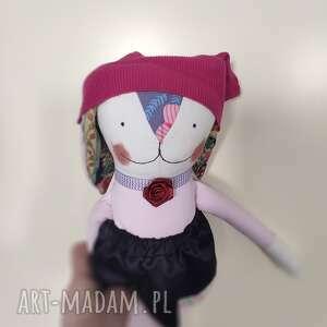 lalki zajączek amarantowa amelia, zajączek, zabawka, dziecko, lalka, maskotka