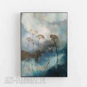 trawy-obraz akrylowy formatu 30/40 cm, akryl, trawy, obraz, płótno