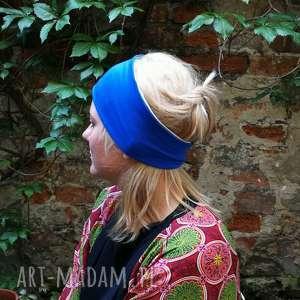 handmade opaski opaska damska niebiesko szara