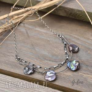 Perłowy naszyjnik naszyjniki grey line project perła,