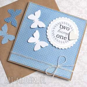handmade kartki kartka ślubna: motyle:: light blue