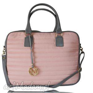 ręczne wykonanie na laptopa manzana biznes styl torba na laptopa, pudrowy róż, 15 cali