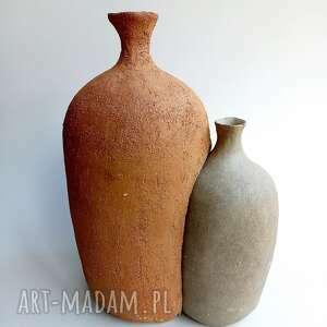 dwa połączone wazony, wazon, zestaw wazonów, wazon surowy, industrialny