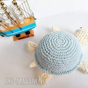 Żółwik z błękitnej skorupce - Ręczne wykonanie